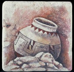 """Pueblo Pot 8""""x8"""" Deco Tile"""