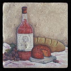 "Old World Wine 8""x8"" Deco Tile"