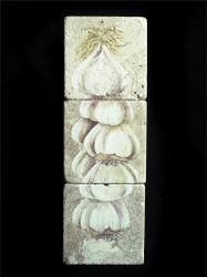 Garlic Ristra 3-Piece Deco Tiles