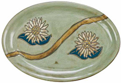 "Mara Oval Serving Platter 16"" - Sunflower"