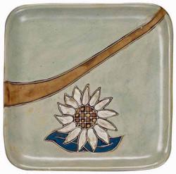 "Mara Square Plate 8"" - Sunflower"