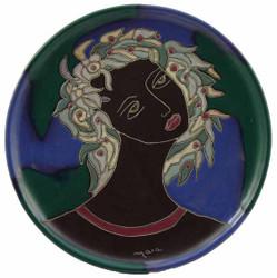 """Mara Platter 12"""" - Woman's Face"""