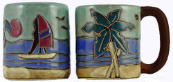 Mara Mug 16oz - Palm Trees / Wind Surfers