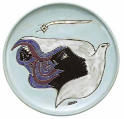 "Mara Platter 12"" - Woman / Dove"