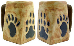 Mara Square Mug 12oz - Bear / Wolf Paws