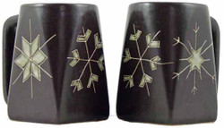 Mara Square Mug 12oz - Snow Flakes