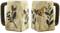 Mara Square Mug 12oz - Wild Flowers