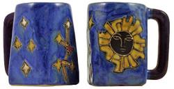 Mara Square Mug 12oz - Geo Sun Blue