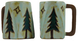 Mara Square Mug 12oz - Pine Trees