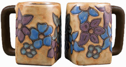Mara Square Mug 12oz - Flowers