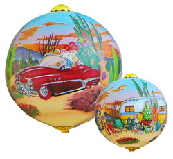 "Rving Desert Santa - 3"" Ornament Set of 2"