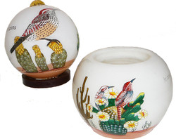 "Cactus Wren 3"" Votive - Set of 2"