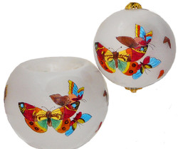 "Butterflies Votive - 3"" Votive Set of 2"