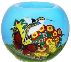 "Butterfly& Humming Bird - 3"" Votive Set of 2"