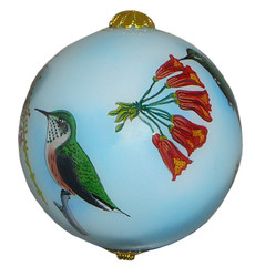 "Blue Hummingbirds - 3"" Ornament Set of 2"