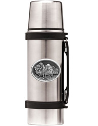 Stainless Steel Thermos with Wildlife Pewter