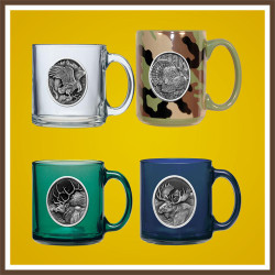 Coffee Mug with Wildlife Pewter