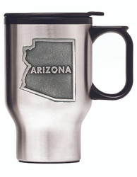 Stainless Steel Travel Mug with Southwestern Pewter