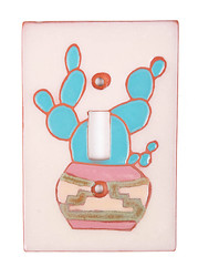 Cactus Pottery Light Switch Plate Cover