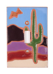 Cactus Scene with Bird Switch Plate Cover