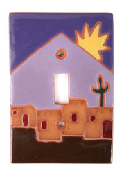 Adobe Scene with Sun Switch Plate Cover