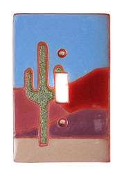 Cactus Mountain Scene Switch Plate Cover