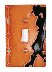 Cowgirl with Border Switch Plate Cover
