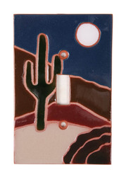 Dark Cactus Switch Plate Cover