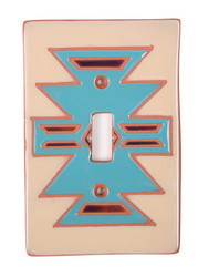 Turquoise Blanket Pattern Switch Plate Cover