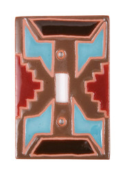 Turquiouse Geo Pattern Switch Plate Cover