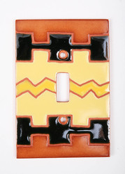 Yellow Geo Pattern Switch Plate Cover