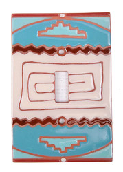 Turquiouse Serape Pattern Switch Plate Cover