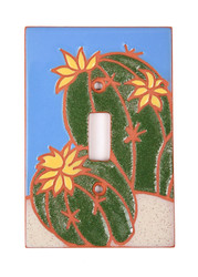 Barrel Cactus Blooms Switch Plate Cover