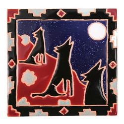 Howling Coyotes Trivet