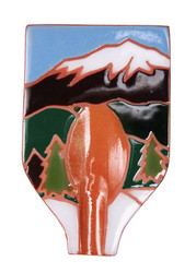 Snowcapped Mountains Spoon Rest