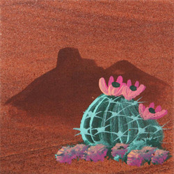 Hand Painted Barrel Cactus Coasters - Set of 4