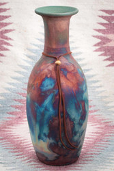 Raku Pottery Long Neck Vase in 3 Sizes