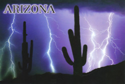 Arizona Monsoon Lightning Postcard - Pack of 100