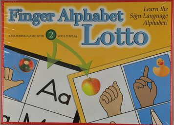 Finger Alphabet Lotto Game