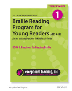 SAL2 Mangold Braille Reading Program for Young Readers Book 1 & 2