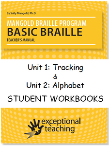 Mangold Basic Braille Program Student Workbooks Unit 1 & 2 ($104 each)