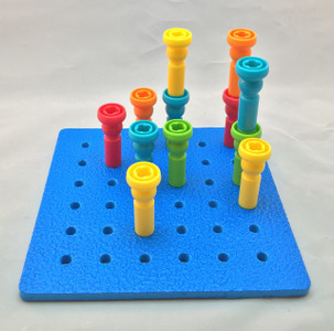 Tall-Stacker Pegs and Pegboards