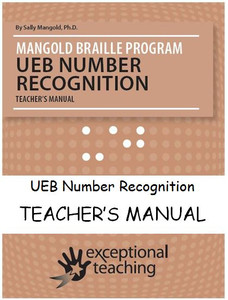 Mangold UEB Number Recognition Teacher's Manual