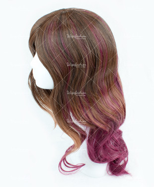 Dark Brown/ Violet Long Wavy 60cm