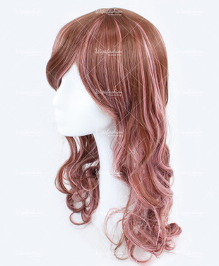 Light Brown Pink Highlight Long Wavy 60cm