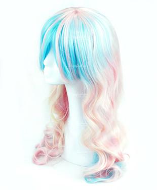 Two Tone Pink Lolita Long Wavy Curls 60cm