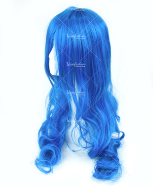 Blue Long Wavy 70cm
