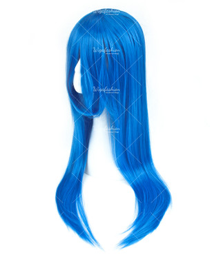 Bright Blue Long Straight 85cm