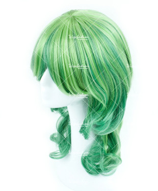Two Tone of Green Curl 50cm