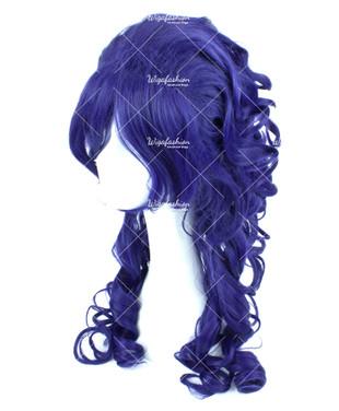 Dark Violet Long Curly 65cm